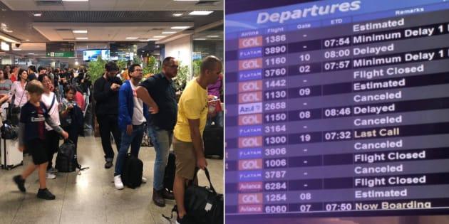 O aeroporto de Congonhas está operando por instrumentos na manhã deste sábado (1º).