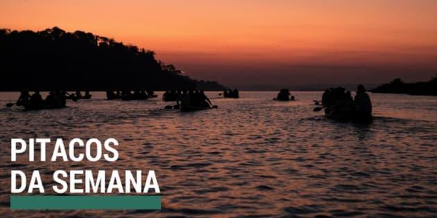 O rio Xingu é uma das travessias abordadas no especial da Agência Pública sobre a resistência indígena na Amazônia.