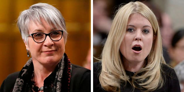 Employment Minister Patty Hajdu, left, and Conservative MP Michelle Rempel, right, both spoke about sexist workplace cultures in the House of Commons on Monday.