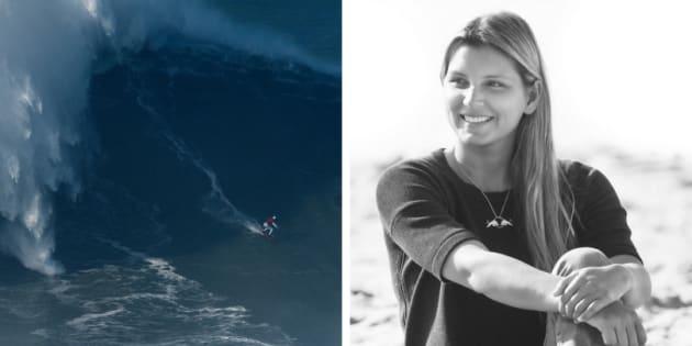 A surfista Maya Gabeira pode entrar para o livro dos recordes.