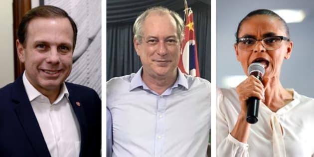 João Doria, Ciro Gomes e Marina Silva tentam se associar à figura de Macron.