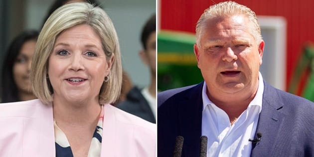 Ontario NDP Leader Andrea Horwath and Ontario PC Leader Doug Ford are shown in a composite image.