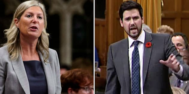 Conservative MP Leona Alleslev and Liberal MP Sean Fraser are shown in a composite image.
