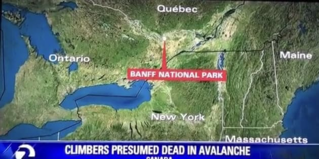 U.S. Network Is Way Off On Banff Map. Like, Way Off.