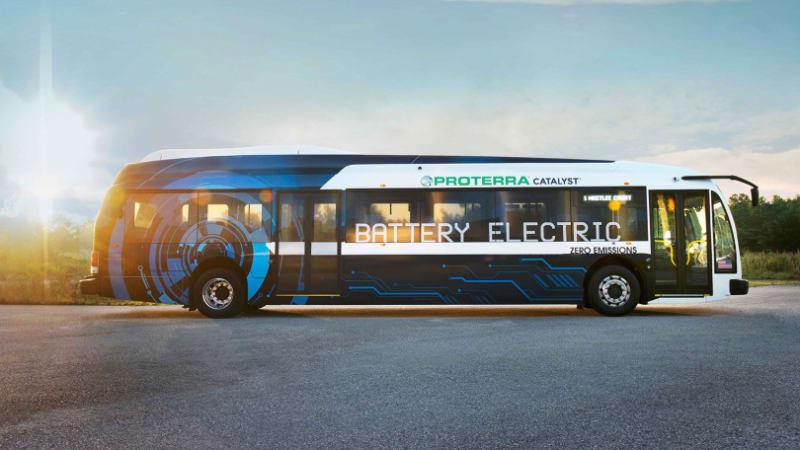 Electric bus maker Proterra benefits from federal grants in 29 cities, Van Hool Belgium deal