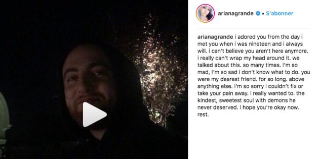 Ariana Grande partage un touchant hommage à son ex Mac Miller