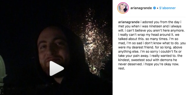 Ariana Grande s'adresse à son ex-petit ami mort Mac Miller dans un texte poignant.