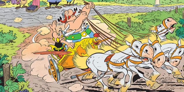 """Astérix et la Transitalique sort aujourd'hui: Obélix a-t-il passé son permis de char pour le 37e album """"Astérix""""?"""