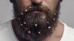 La barba navideña con foquitos es la moda para esta