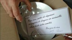 Ils envoient de la vaisselle pour éviter à Macron d'avoir à dépenser