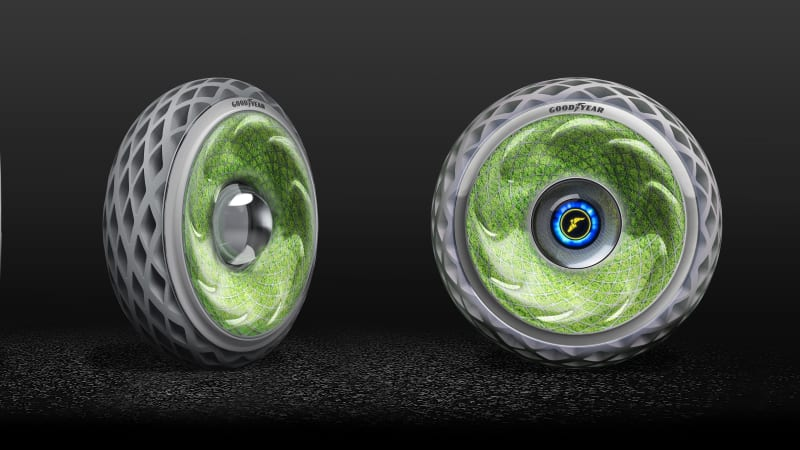photo image Goodyear rolls out moss-filled tire that releases oxygen