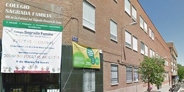 Fachada del Colegio Sagrada Familia del barrio de Salamanca de Madrid, donde se ha denunciado el último intento de secuestro a un menor en la Comunidad. (GOOGLE MAPS).