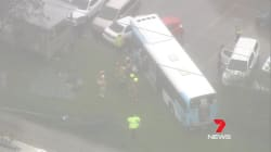 More Than A Dozen People Injured After Bus Collides With Garbage