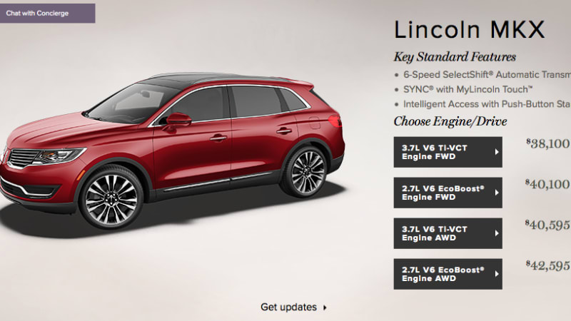 Lincoln Drops Mkx Base Price To 38 995 Autoblog