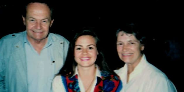 Lisa Wilkinson with her father, Ray, and her mother, Beryl.
