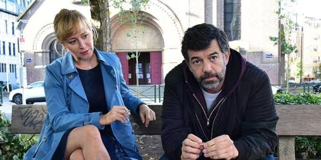 """Stéphane Plaza est aux côté de Julie Ferrier à l'affiche du film """"J'ai perdu Albert""""."""