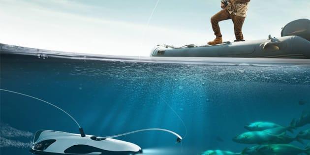 Au CES 2017, le drone sous marin pour aider les pêcheurs à trouver des poissons mais...
