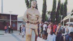 Teddy Riner a désormais sa statue en taille réelle et une place à son