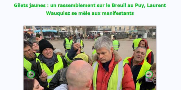 Les mensonges de Wauquiez — Gilets jaunes