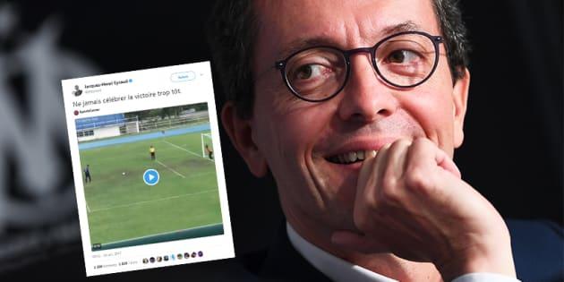 Le président de l'OM a vu dans cette vidéo une allégorie du match contre le PSG