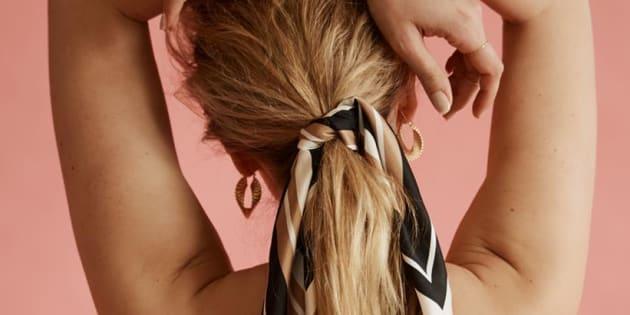 Aussie label Frankie Peach is bringing the classic silk scarf back.