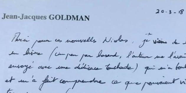 La lettre touchante de Jean-Jacques Goldman au président du Refuge Nicolas Hoguier