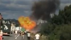 Les impressionnantes images de l'explosion sur la