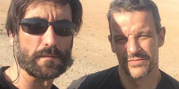 Ricardo García Vilanova y Karlos Zurutuza, en Libia.