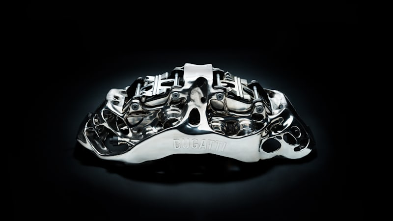 The Bugatti Chiron will get 3D-printed brake calipers, a first for