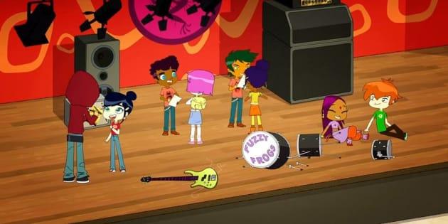 """""""Sally Bollywood"""", un dessin animé diffusé sur les chaînes de France Télé."""