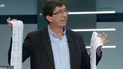 El gesto que le ha salido muy caro a Juan Marín, candidato de Ciudadanos en