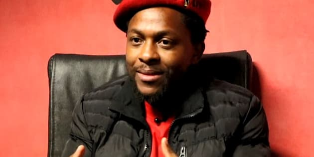 EFF national spokesman Mbuyiseni Ndlozi during an interview with HuffPost on Human Rights Day.