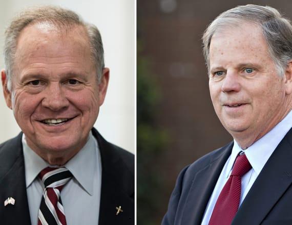 Democrat takes narrow lead in Senate race in Alabama