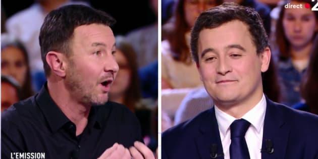 """Échange musclé entre Darmanin et Besancenot à """"L'Émission politique"""" ce 15 mars 2018."""