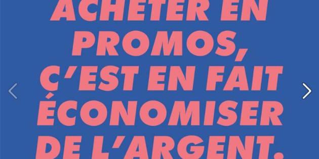 Outil promotionnel de la marque Asos pour le Black Friday en France.