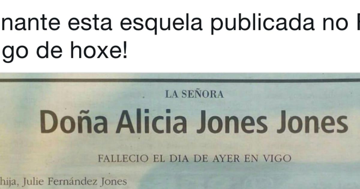 Sorpresa por esta esquela publicada en el Faro de Vigo este viernes