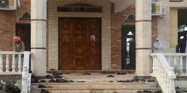 The Mosque where the bombing attack took place and killed at least 305 people injured scores in Al-Arish, Egypt on November 25, 2017.