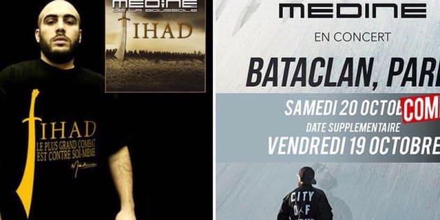 """Le rappeur Médine, auteur d'un album intitulé """"Jihad"""", doit donner deux concerts en octobre prochain au Bataclan."""