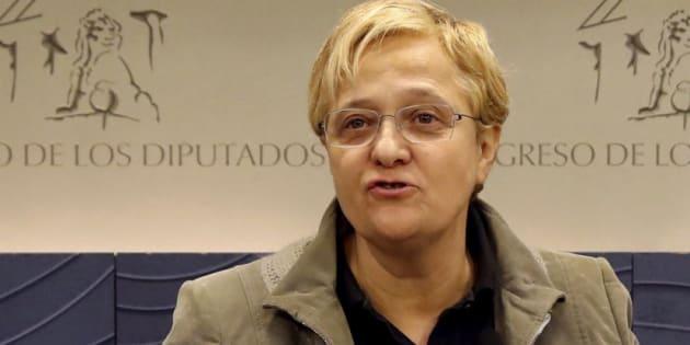 La diputada socialista Ángeles Álvarez en el Congreso.