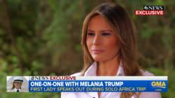 Melania Trump soutient les femmes qui parlent depuis #MeToo (mais elle aimerait des