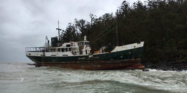 The boat ran aground near Whitsunday Island.