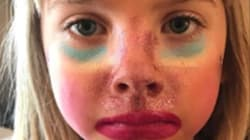À 6 ans, la fille de Pink filme son premier tuto maquillage et ne lésine pas sur la