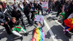 Des manifestants contre la persécution des homosexuels en Tchétchénie arrêtés en