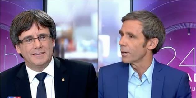 Entrevista de Puigdemont en LCI