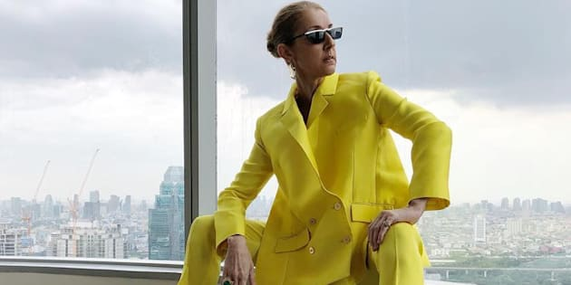 A photo of Céline Dion in a yellow Rabih Kayrouz pantsuit quickly went viral this week.