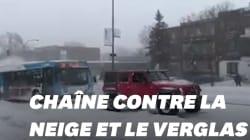Face à la neige, ces automobilistes québécois ont prouvé que l'union fait la
