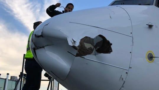 Incidente con dron provoca daños en avión al aterrizar en
