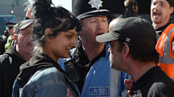 Woman Stares Down Far-Right UK Protester, And Wasn't Scared In The