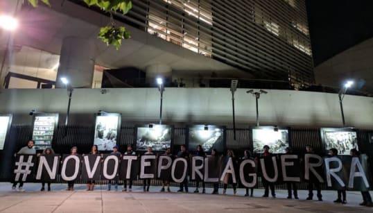 #NoVotéPorLaGuerra, así se manifiestan en contra de la Guardia