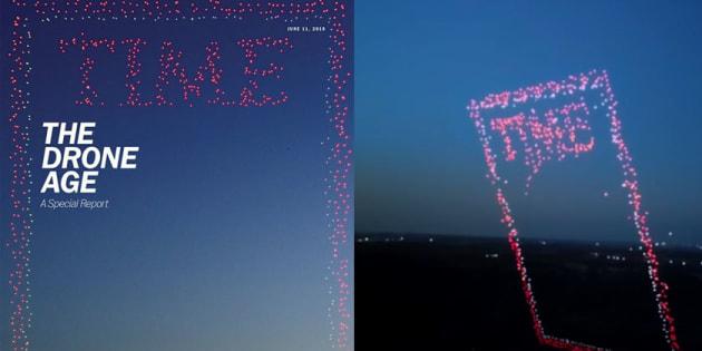 L'étonnante couverture du Time réalisée par des drones